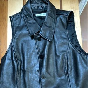 Beautiful genuine leather black vest